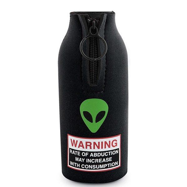 alien beer koozie pecos winery